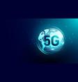 new 5g internet communication global network vector image vector image