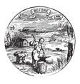 official seal us state nebraska in vector image vector image