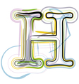 Organic Font letter h vector image vector image