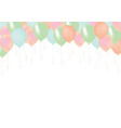 pastel pink orange green and blue celebrate air vector image