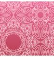 pink mandala pattern vector image
