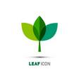 plant icon leaf symbol nature logo concept vector image vector image