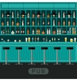 Pub interior with bar counter vector image vector image