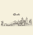 quito skyline ecuador hand drawn sketch vector image vector image