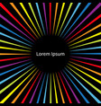 rainbow color speed template colorful movement vector image