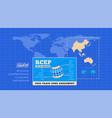 rcep regional comprehensive economic partnership vector image