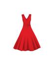 red elegant dress vector image