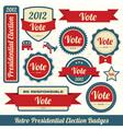 Retro Vote Stickers vector image vector image