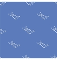 Seamless Aircraft Blue Background vector image vector image