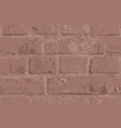 seamless pattern with old brown brick wall vector image