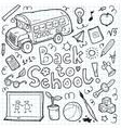 Set of doodle back to school elements