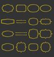 Set of vintage gold frames vector image vector image
