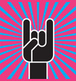 sign of the horns hand gesture vector image vector image