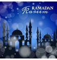 Silhouette Mosque in the Bright Night for Ramadan vector image vector image