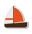 single sailboat icon vector image vector image