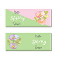 spring sale banners poster tag design design with vector image