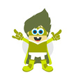 superhero cartoon character vector image vector image