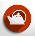 tea pot web icon vector image vector image