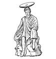 terracotta figure are wearing chlamys and chiton vector image vector image