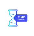 time hourglass icon sand watch sign dynamic vector image
