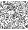 tropical outline pattern vector image vector image