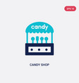 two color candy shop icon from food concept vector image
