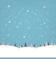 vintage winter poster vector image vector image