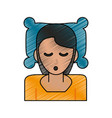 woman sleeping cartoon vector image vector image
