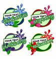 berry fruits logo vector image