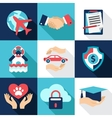 Insurance asset protection security Flat style vector image