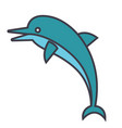 dolphin flat line concept vector image
