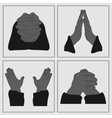 Hands in prayer vector image