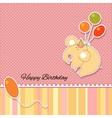 Its a baby girl announcement card vector image