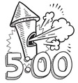 500 vector image vector image