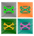 assembly flat shading style icon cross bones vector image vector image