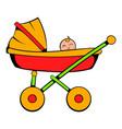 baby carriage icon cartoon vector image vector image