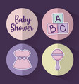 baby shower design ilustration icon baby vector image