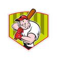 Baseball Player Batting Diamond Cartoon vector image vector image