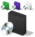 box for DVD with a disk vector image vector image