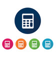 calculator icon for apps and websites vector image