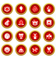 circus icons set simple style vector image vector image