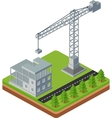 Construction cranes vector image