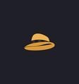 cowboy hat computer symbol vector image