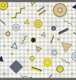 creative rectangle frame border yellow gray vector image vector image