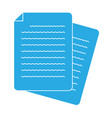 document icon on white background flat style vector image