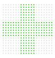 dotted cross sign for medical healthcare vector image vector image