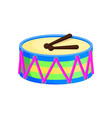 drum toys with sticks santa vector image vector image