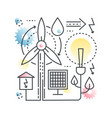 ecology green energy clear environment vector image