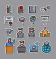 education stickers set vector image