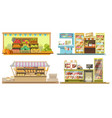 food booths or grocery store interiors with vector image vector image